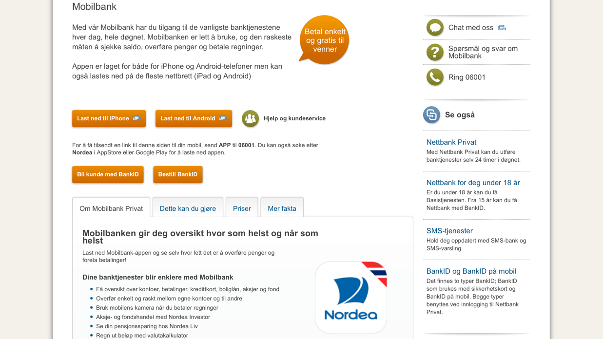 nordea-mobilbank-page