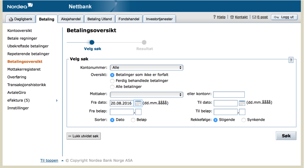 Nordea Netbank Facelift - Richard Harris Design