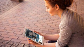 Nets nye forside på iPad