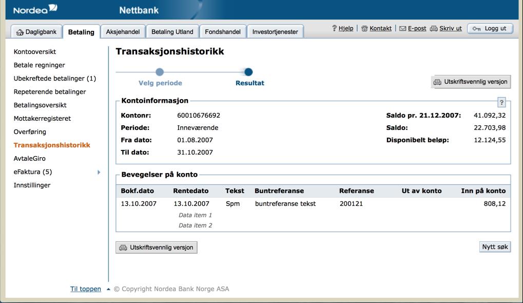Nordea Netbank